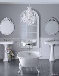 kohler bancroft pedestal sink the bold look of tap sinks and grey bathrooms