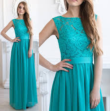 cheap teal bridesmaid dresses compare prices on lace no shoulders top shopping buy