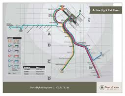 Denver Metro Map by Current And Future Denver Metro Light Rail Stops