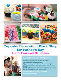 reminder cupcake decoration workshop for father u0027s day blue moon