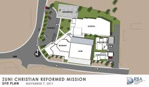 site plan design architect drawings zuni christian mission school