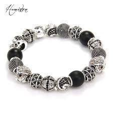 bracelet skull beads images Buy thomas style km bead bracelet with owl cross jpg