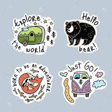 travel stickers images Fun travel stickers and patches for big adventures isolated jpg