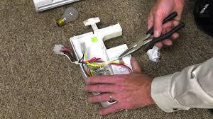 kenmore refrigerator light bulb kenmore refrigerator repair how to replace the light bulb socket