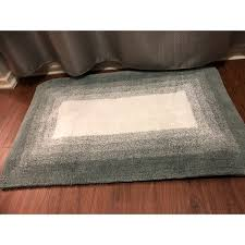 Ombre Bath Rug Ombre Border Reversible Bath Rug Set Includes Bonus Step