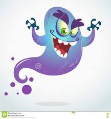 cartoon flying monster vector halloween illustration of smiling
