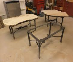 U Shaped Table Legs Decor Burl And Wrought Iron Table Legs For Furniture Decor Ideas