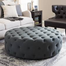 round tufted coffee table signal hills knightsbridge round tufted cocktail ottoman with