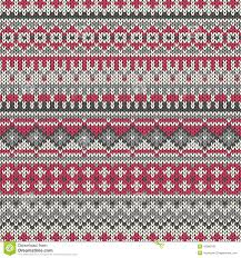 seamless knitted pattern in traditional fair isle style eps