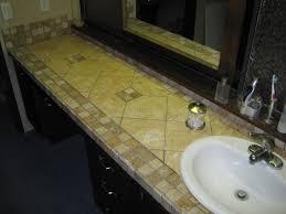 Bathroom Countertop Decorating Ideas Tile Bathroom Countertop Home Decorating