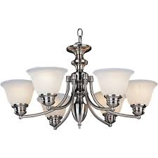 maxim lighting malaga 6 light satin nickel chandelier 2684mrsn