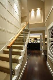 Glass Staircase Banister Wooden Staircase Railing With Glass Staircase Contemporary With