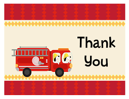 fire engine baby shower thank you cards baby shower thank you