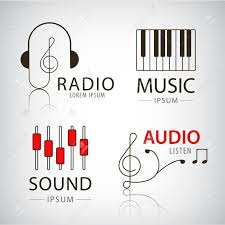 imagenes logos musicales vector musical logos and icons set of design elements music and