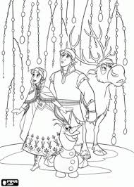 anna kristoff sven olaf coloring party ideas