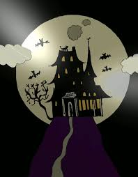 spooky house halloween owl wishlist art