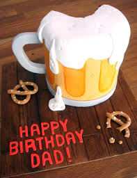 beer cake butter hearts sugar beer mug birthday cake
