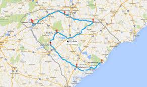 road map of south carolina the south carolina road trip through historic small towns