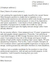 awesome collection of senior graphic design cover letter sample on