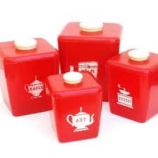 red canister set for kitchen kenangorgun com