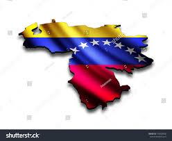 Map Of Venezuela Flag Map Venezuela Perspective Waving Venezuelan Stock