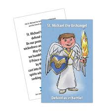 Seeking Card Cast Michael The Archangel Prayer Card