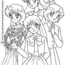 sailor heroines coloring pages hellokids