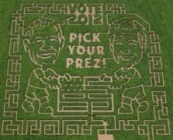 4 mormons whose faces been turned into epic corn mazes