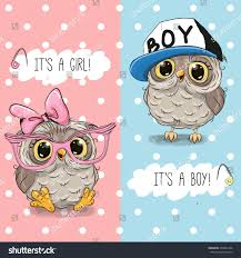 baby shower greeting card owls boy stock vector 496801336