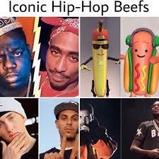 Eminem Drake Meme - too stupid hotdog banana beef hiphop rnb tupac biggie