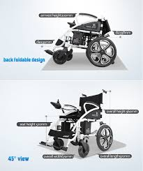 Motorized Chairs For Elderly Comfy Go Electric Wheelchair Foldable Lightweight Heavy Duty
