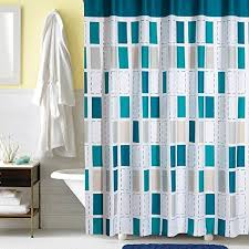 Turquoise And Grey Shower Curtain Bathroom Shower Curtain Sets Amazon Com