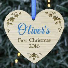 personalised baby 1st first christmas tree decoration ornament bauble