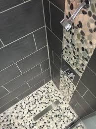 tile flooring ideas for bathroom bathroom cozy pebble floor tile for unique shower room floor