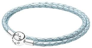 silver leather wrap bracelet images Lyst pandora silver leather wrap bracelet in blue jpeg
