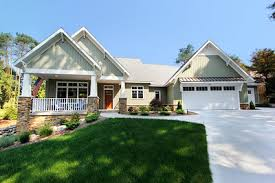 Craftsman Home Plans by Craftsman Home Plan With Finished Lower Level 18254be