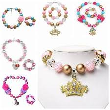 children s jewelry childrens jewelry sets chunky necklace bracelet for kid