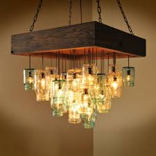 wagon wheel mason jar chandelier u2014 best home decor ideas simple