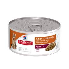 hills science diet turkey u0026 liver entree canned cat food petco