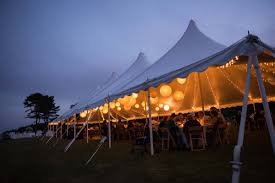 backyard tented wedding in harspwell maine u2022 the event light pros