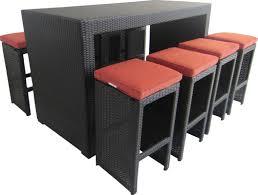 creative living 9 piece oahu patio bar set in terracotta u0026 reviews