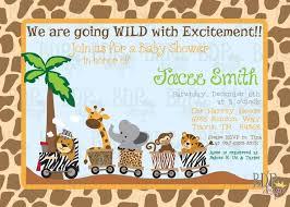 safari baby shower invitations ideas all invitations ideas