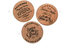wedding invitations cork cork coaster save the dates for a vineyard wedding sofia