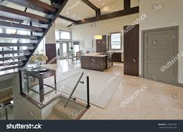 Luxury Living Room And Kitchen Outlook Panorama Luxury Modern Living Space Stock Photo 142907599
