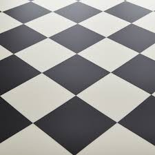 Black Laminate Flooring Tile Effect Black White Tile Effect Vinyl Flooring Carpet Vidalondon