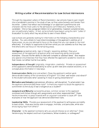 ideas collection letter of recommendation samples for law