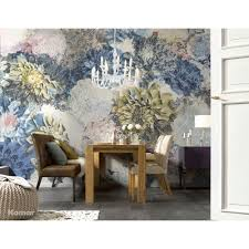 komar 100 in x 145 in rosa wall mural 8 937 the home depot frisky flowers wall mural