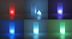 2 09 battery powered multicolor led candle table light 3 ag13