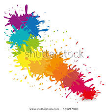 multi color paint splatter icon image stock vector 555217378
