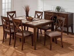 slate dining table set round top 5 piece dining table set with slate inserts by coaster
